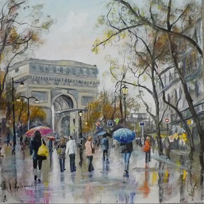 Arc de Triomphe sous la pluie