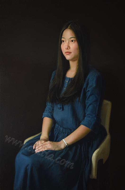 2018年《青春——凝视》 布面油画