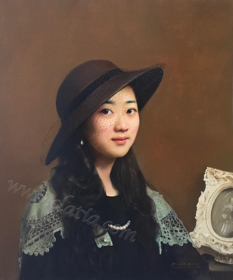 闺秀-布面油画