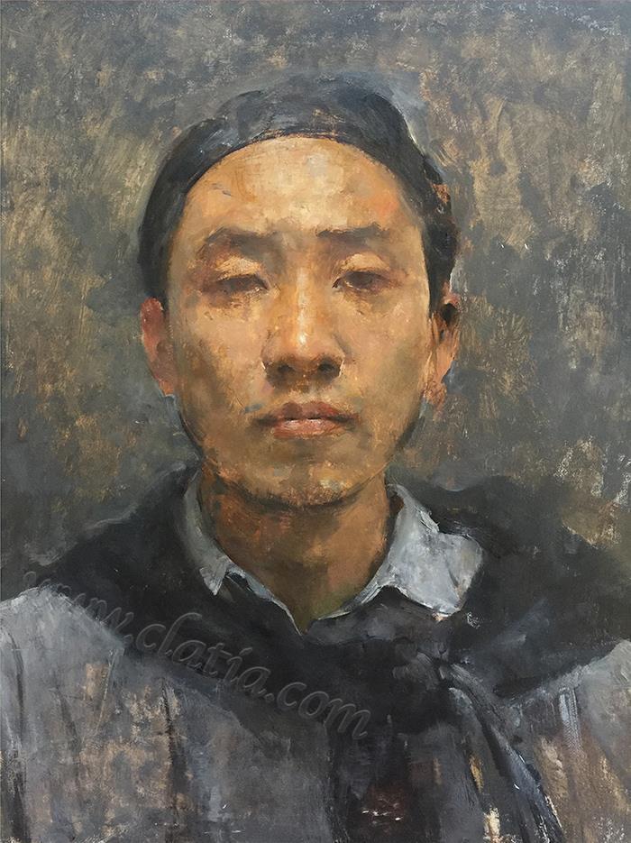 selfportrait-布面油画