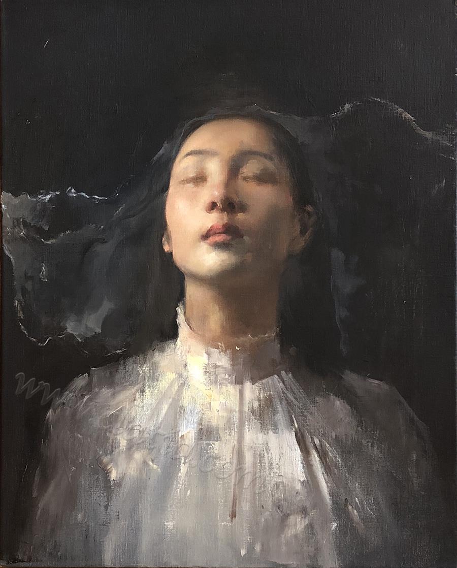 breathe-布面油画