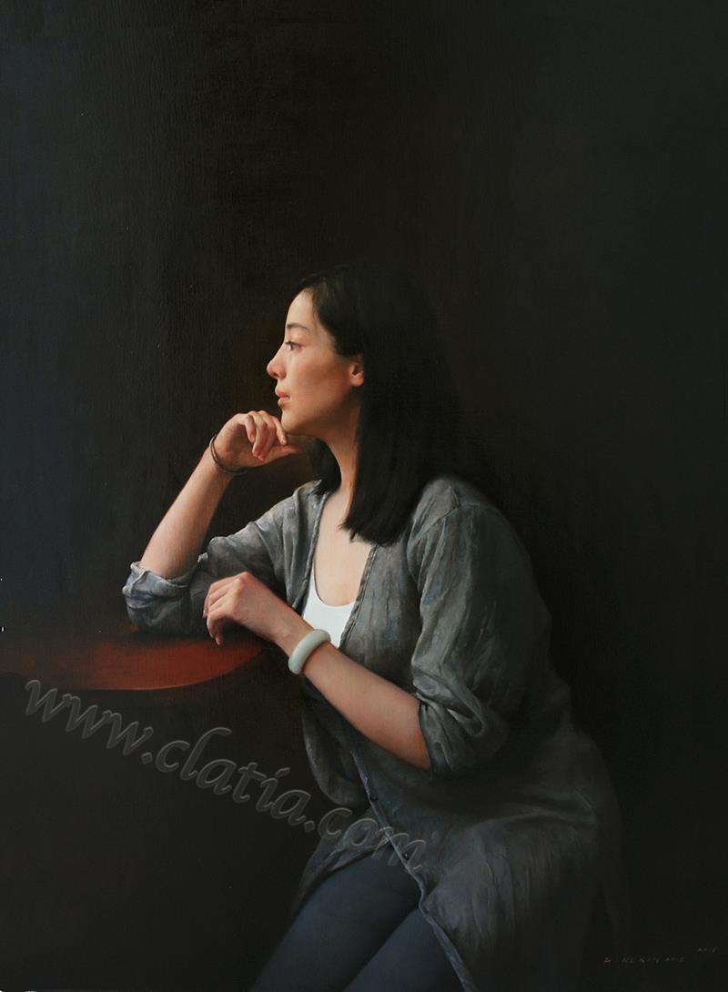 月夜-布面油画
