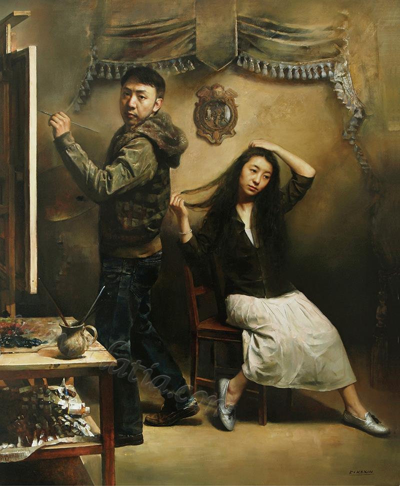 艺术家的故事-布面油画