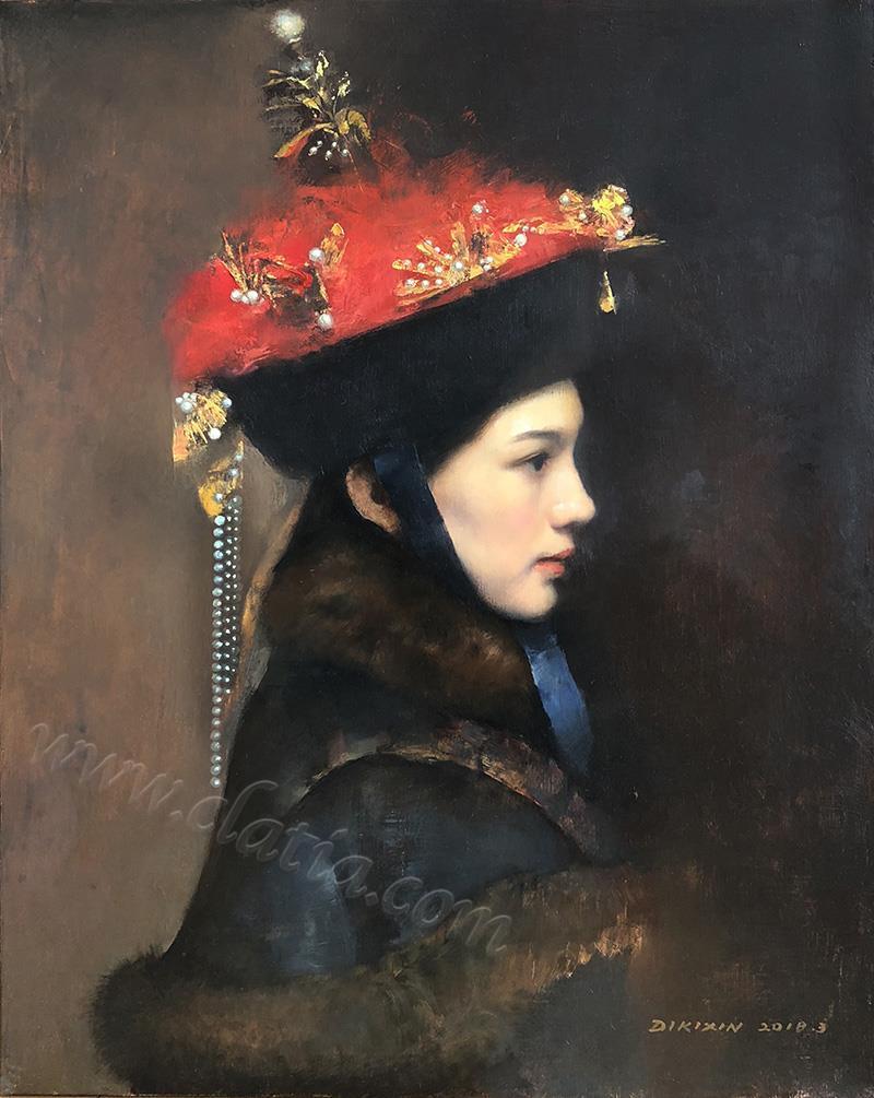王后-布面油画