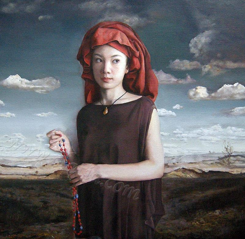 东方的信仰-布面油画