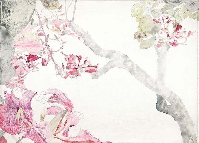 紫荆艳艳-布面油画
