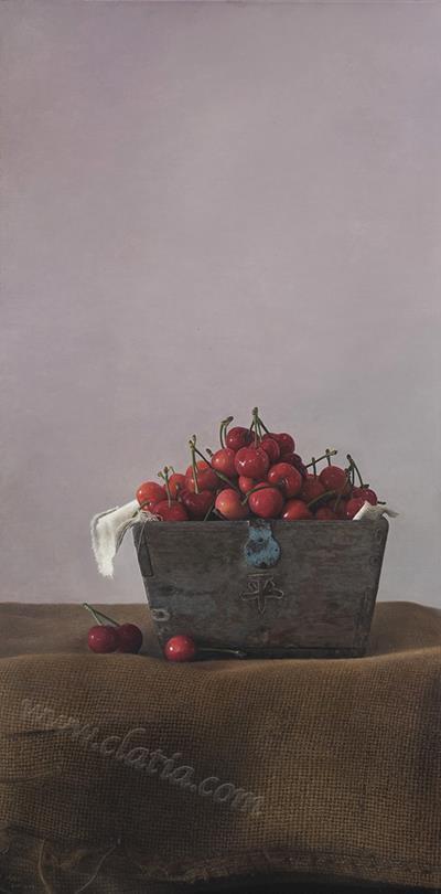 红樱桃-布面油画