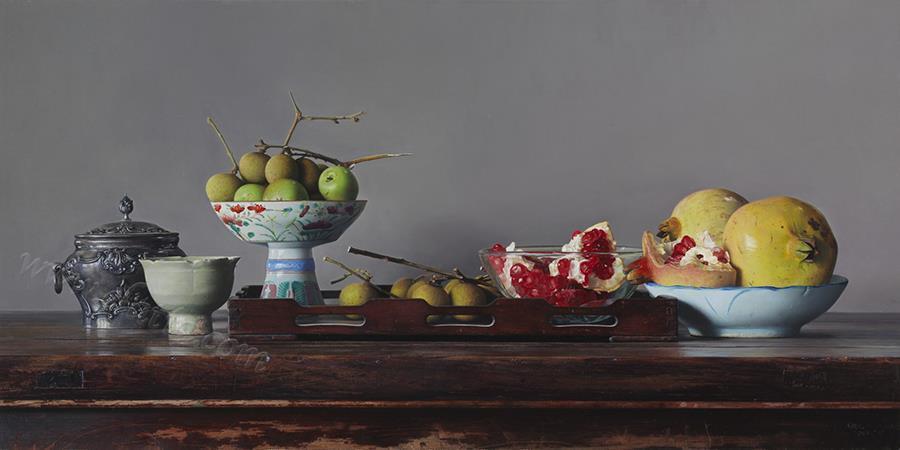 碧沁红熏-布面油画