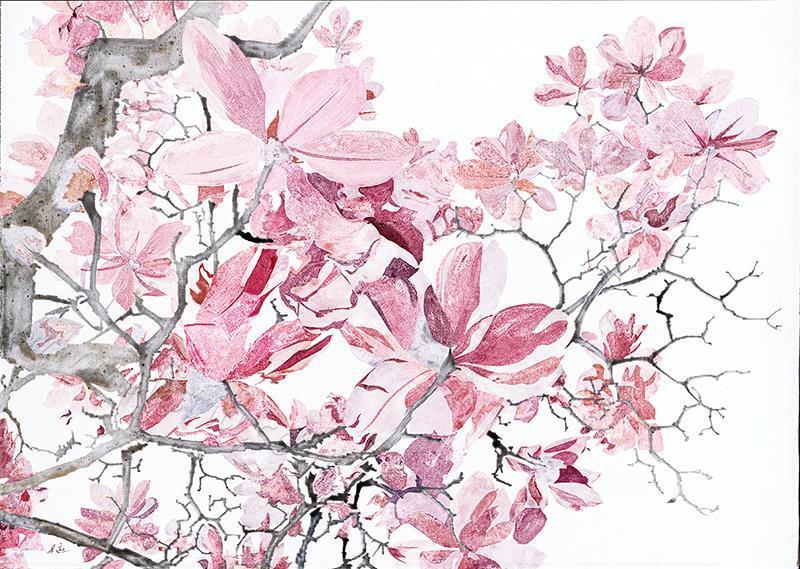 枝枝已堪-布面油画