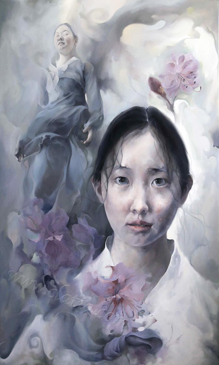 金达莱-油画