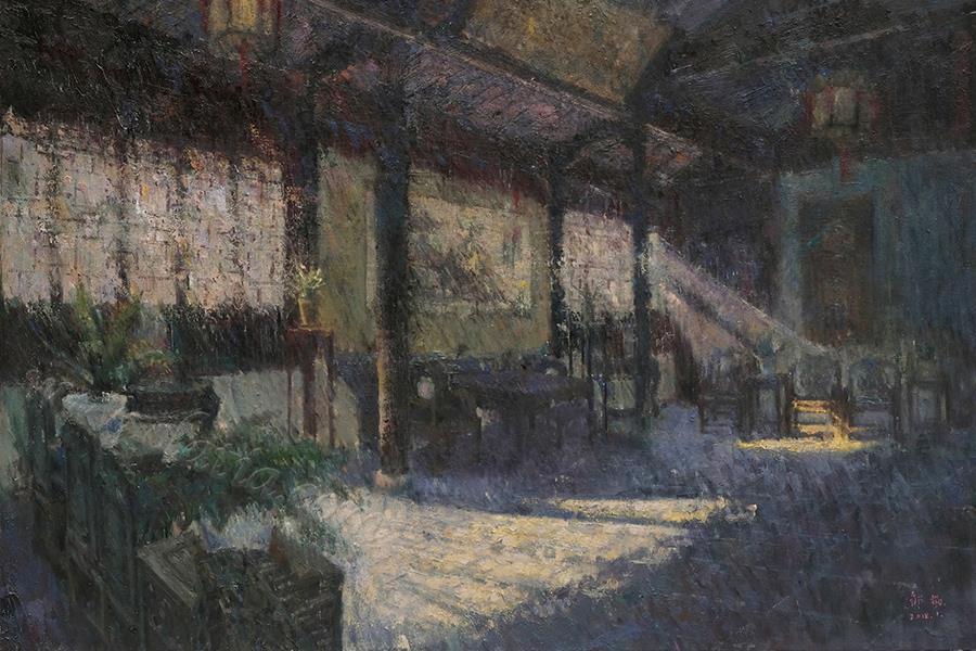 江南寻梦系列六-布面油画