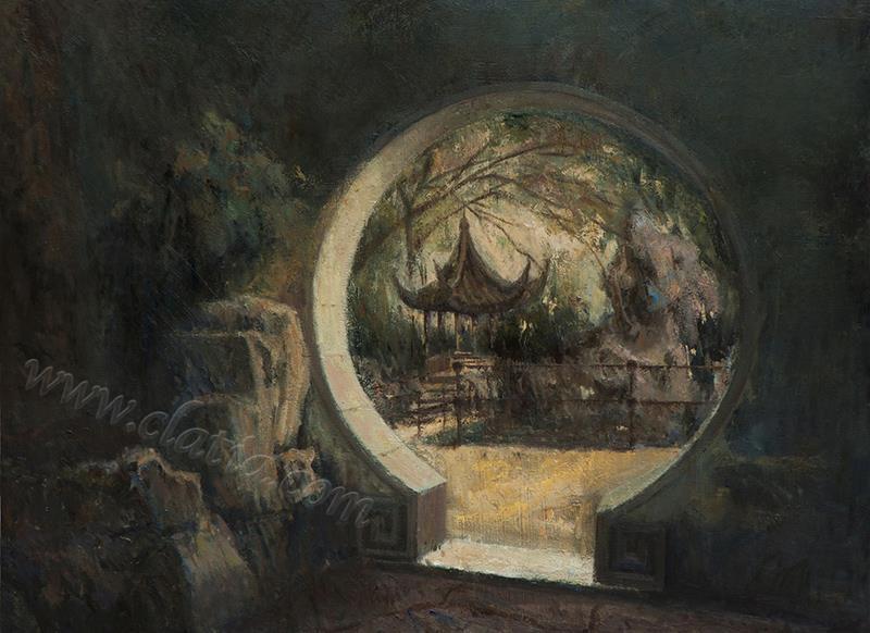 江南寻梦系列二-布面油画