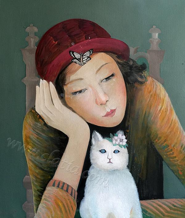 女孩与猫之三