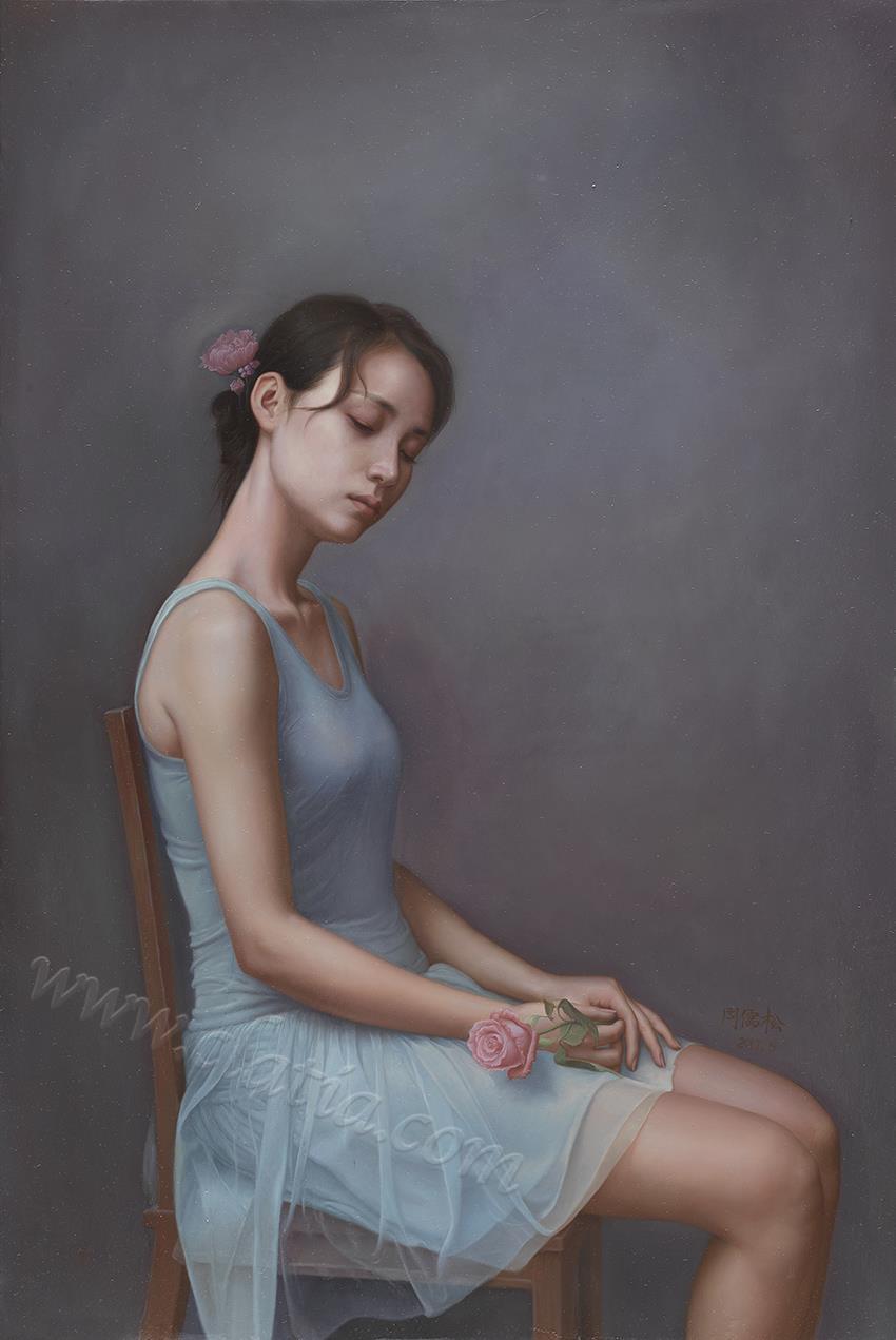 遐想系列4-布面油画