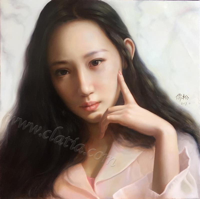 叶-布面油画