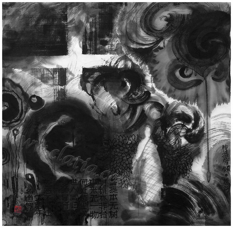 传播信仰-纸本水墨