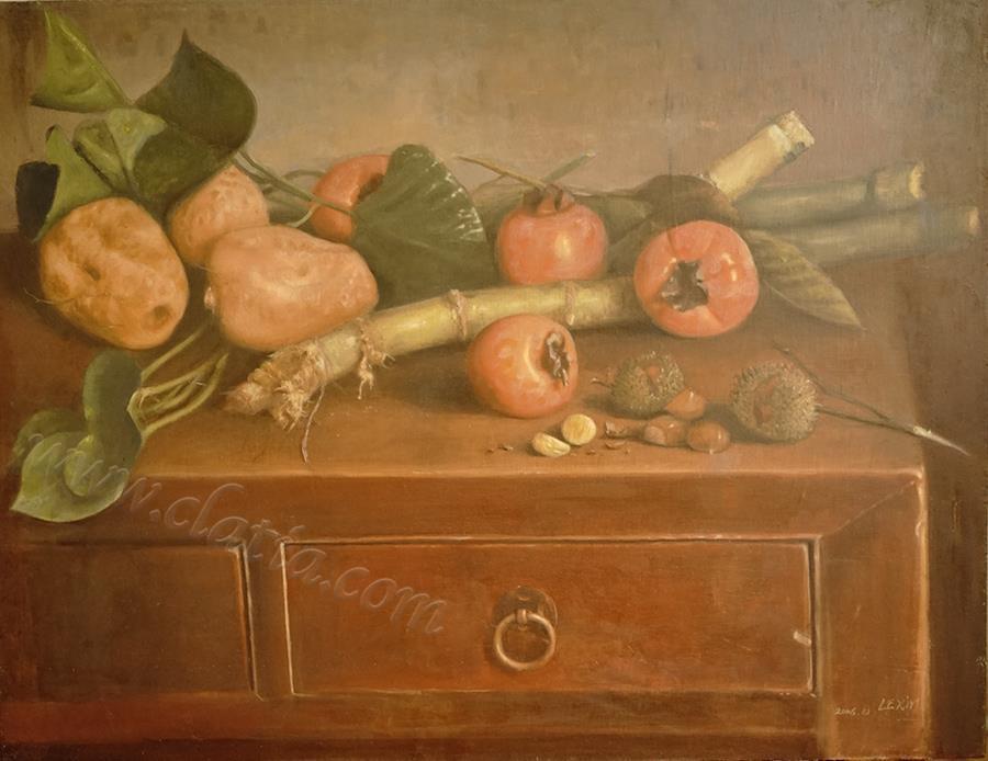 静物(农家了)-布面油画