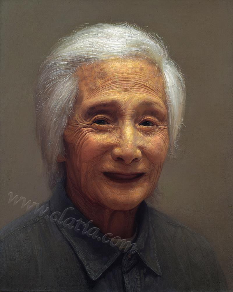 我的奶奶-油画
