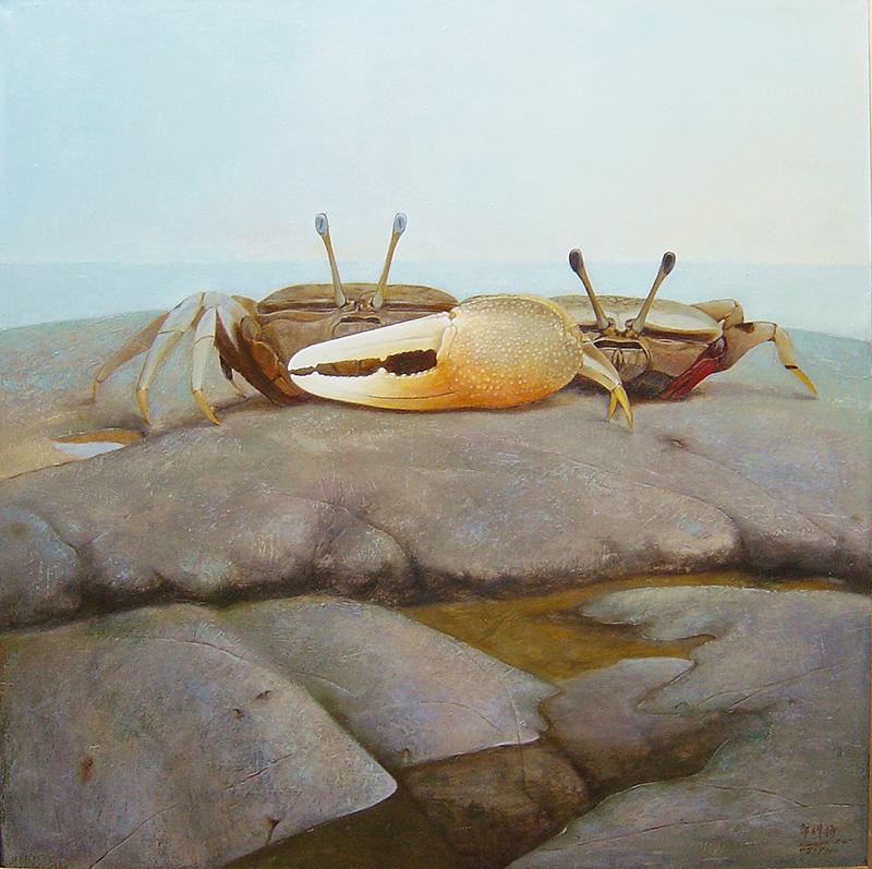 海之灵-依-油画
