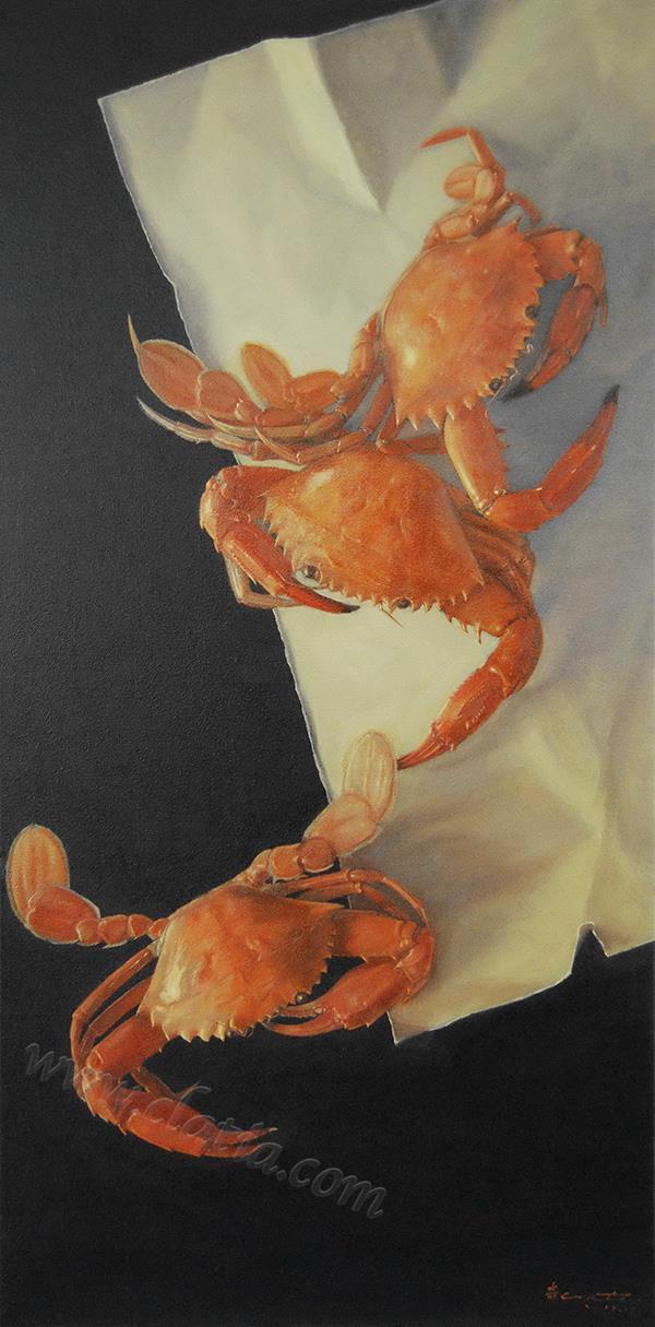 石蟹图-油画