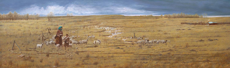 牧歌-布面油画