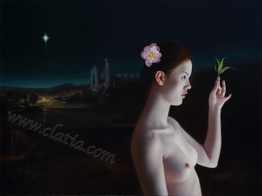 阿克罗波利斯之夜-油画