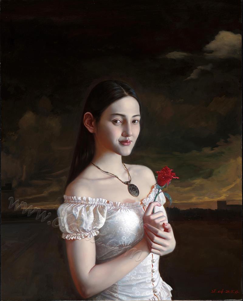 露珠儿-油画