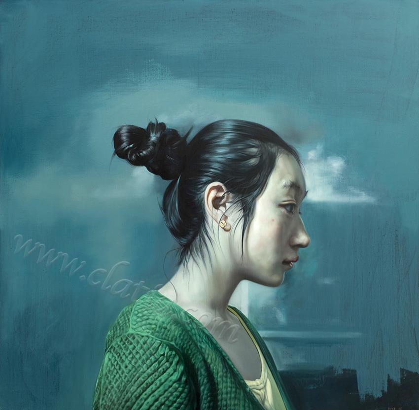 小静-布面油画