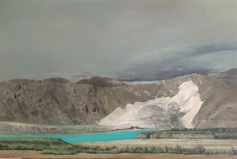 雅鲁藏布江之南-布面油画