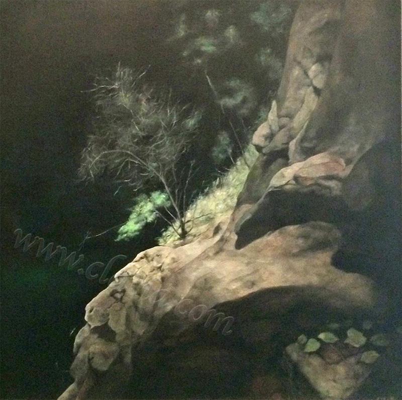 夜崖-布面油画