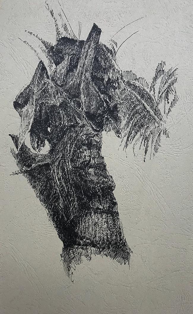 树干系列3-中性笔·皮纹纸