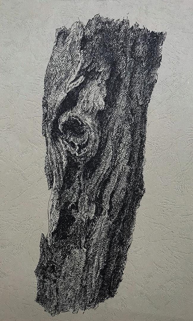 树干系列1-中性笔·皮纹纸
