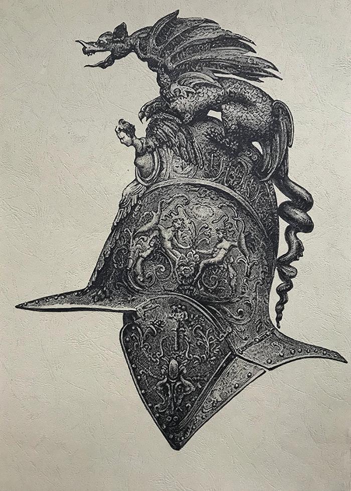 头盔系列3-皮纹纸