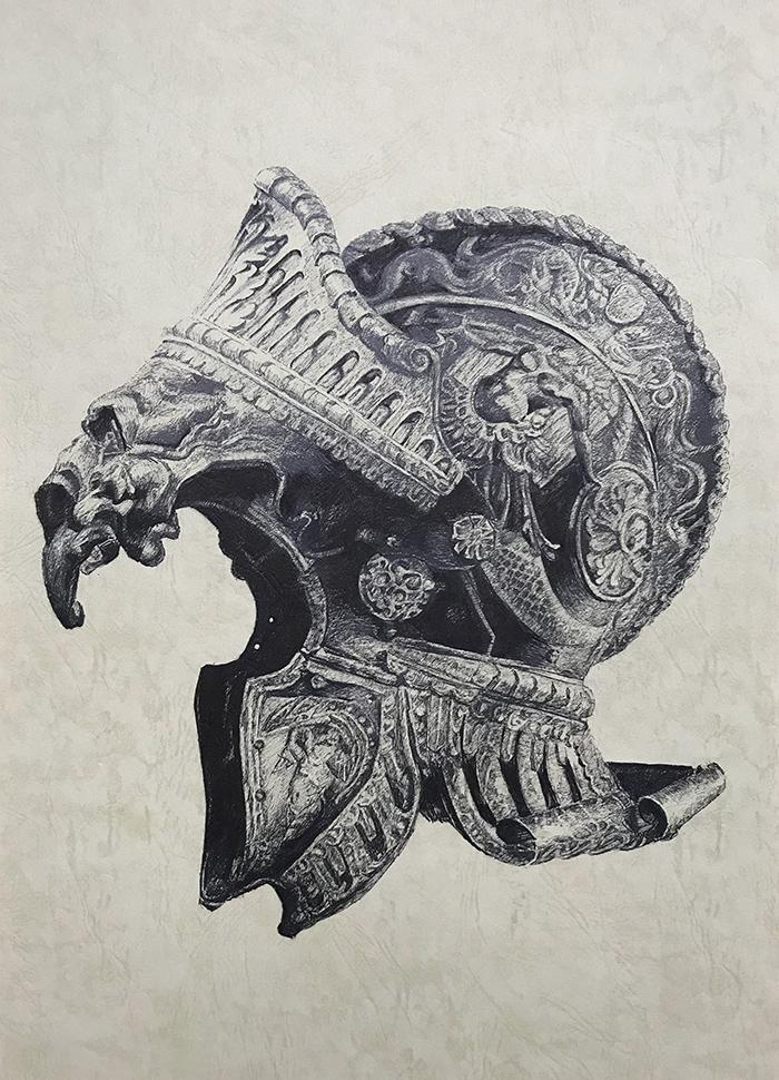 头盔系列1-中性笔·皮纹纸