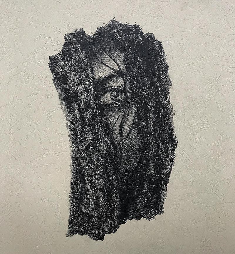 窥-中性笔·皮纹纸