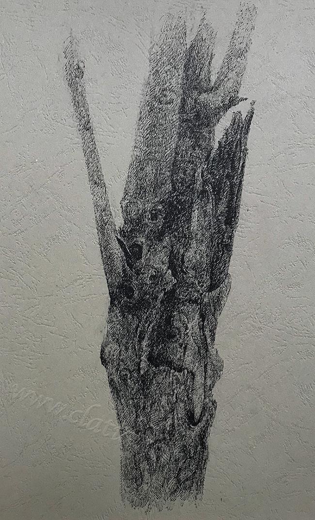 树干系列6-中性笔·皮纹纸