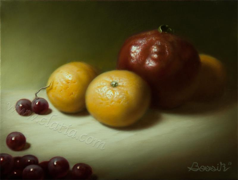 Still life with Clementines