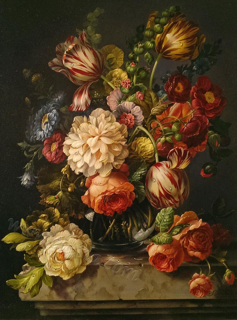 Still life in dark colors