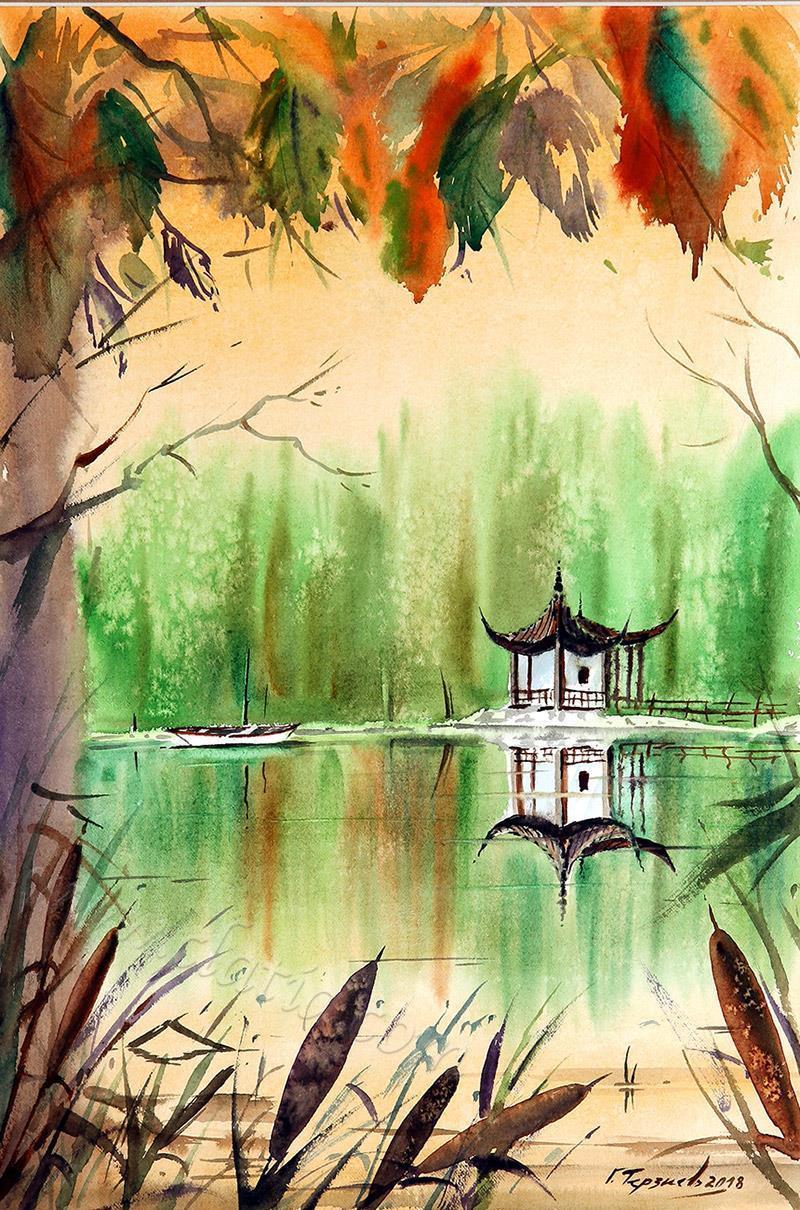 China impresion-watercolor