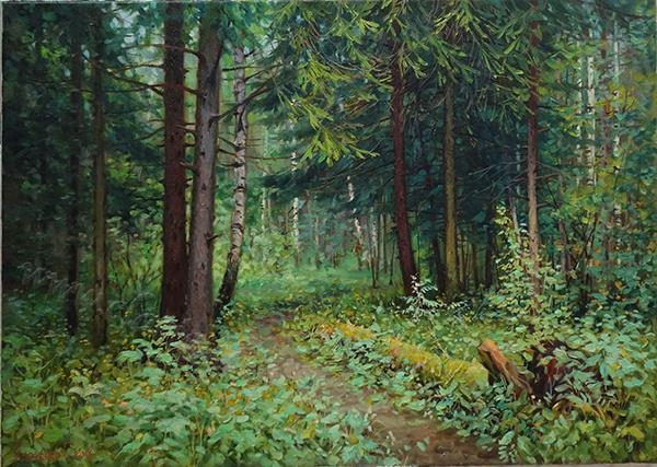 _ В лес _ холст