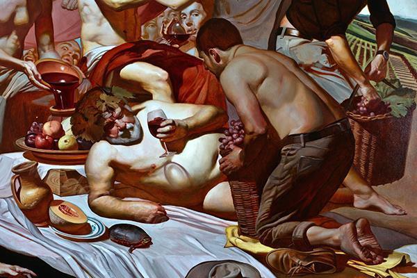 Triumph of Bacchus (detail) 3