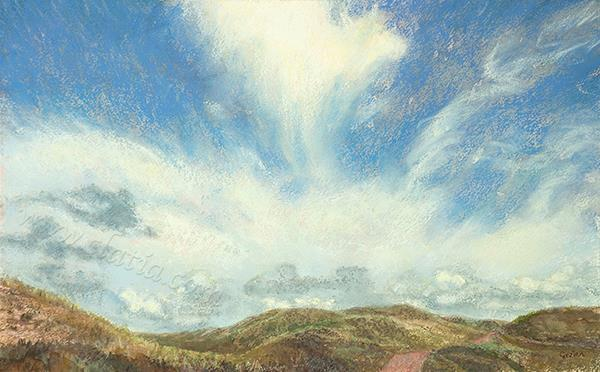 Emerging cloud Watercolour