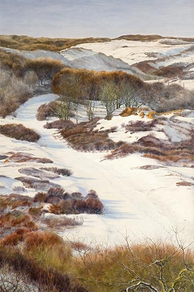 Dunes in the snow Alkyd