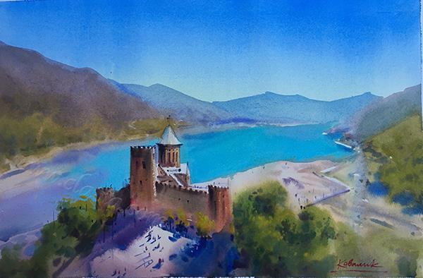«Крепость Ананури, Грузия»