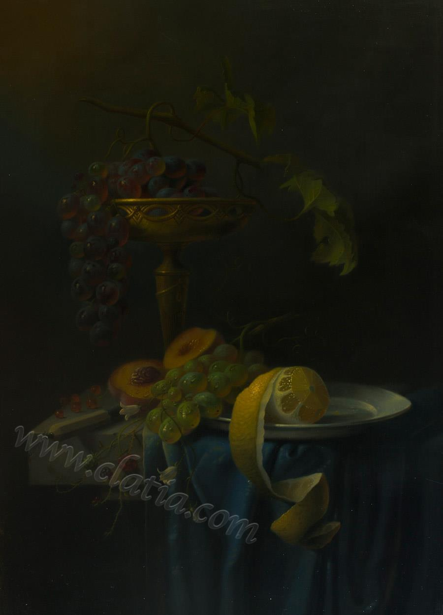 Still life Dutch style 80 x 60 cm Oil on canvas
