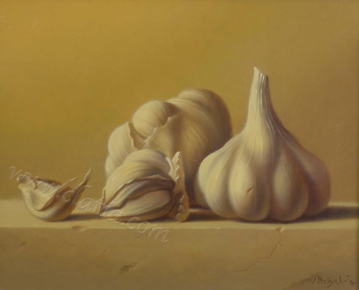 Garlic 30 x 40 cm Oil on canvas