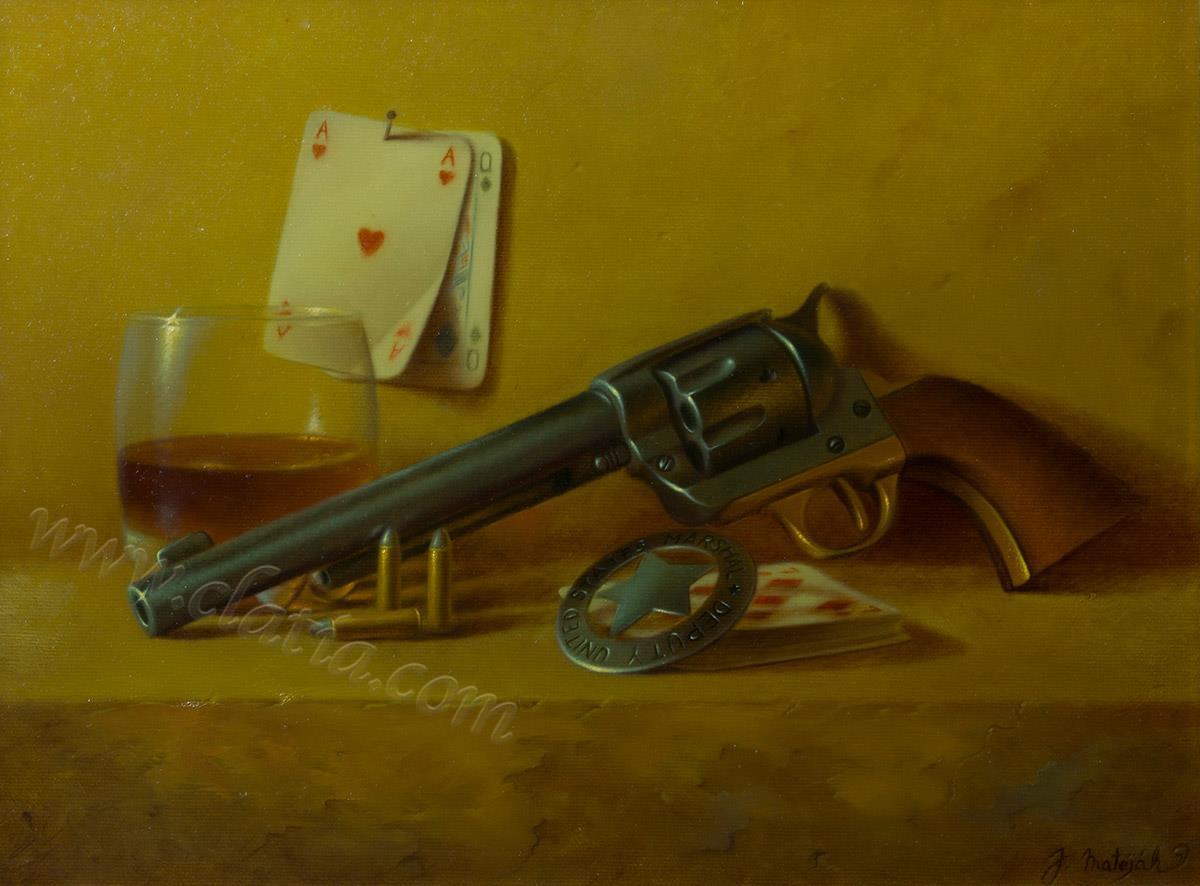 Ace high 30 x 40 cm Oil on canvas