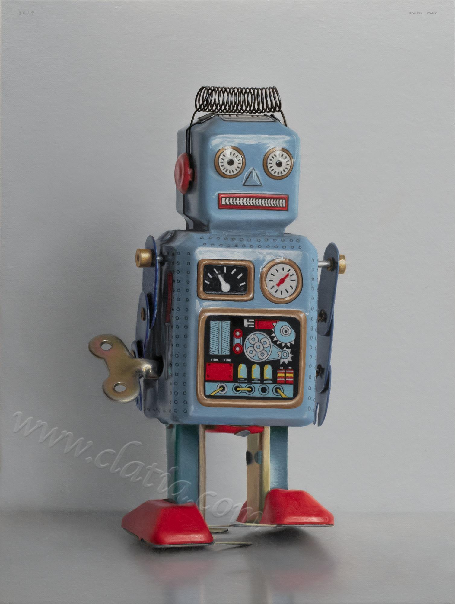 Robot, oil on canvas