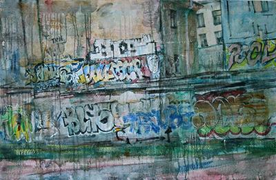 Graffiti in the yard