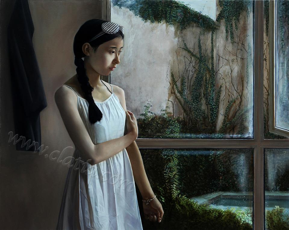窗-布面油画